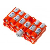 Organize and Store up to 12 AA Batteries - ORANGE