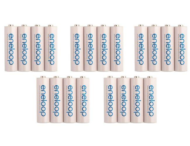 PACK OFERTA: 20 x Baterías Panasonic Eneloop BK-3MCCE 2000mAh