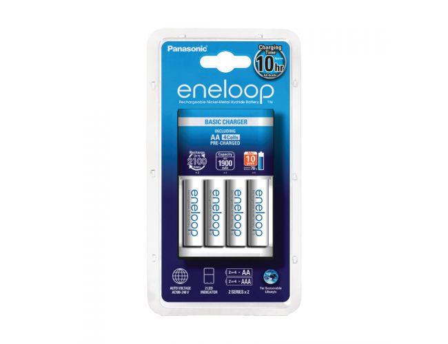 Cargador Panasonic Eneloop BQ-CC51E + 4 baterías Panasonic Eneloop BK-3MCCE AA 1900mAh