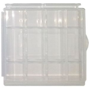 Estuche organizador de plástico BLANCO para 4 Pilas AA / AAA