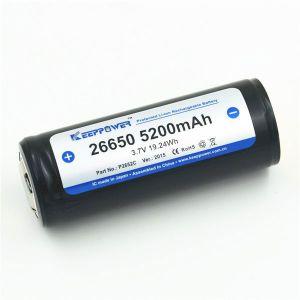Batería de Litio KeepPower 26650 3,7V 5200mAh Li-ion con protección