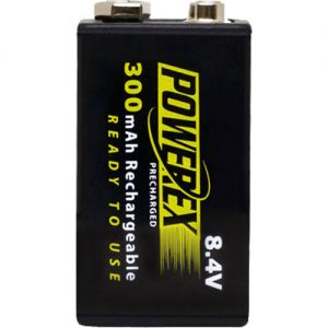 POWEREX MHR84VP-300 PreCharged - 1 NiMH Battery 8,4v 300mAh