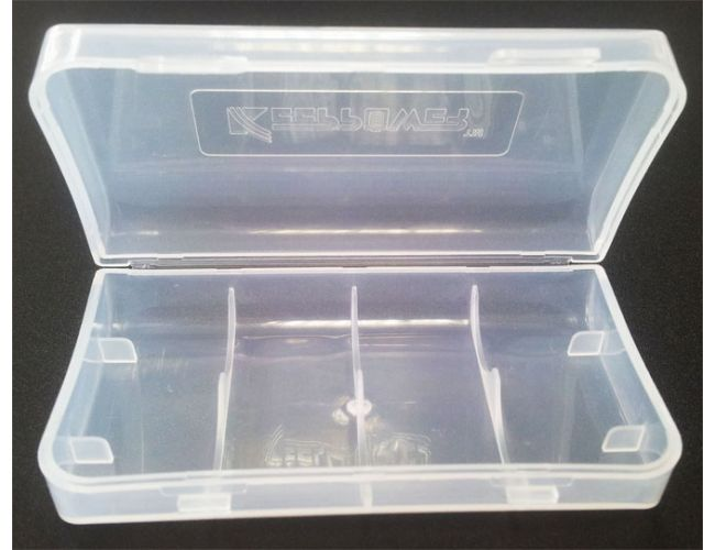 Battery case - 2 x 18650 Clear