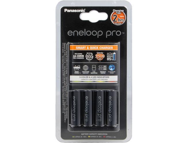 Panasonic Ladegeräte BQ-CC55E + 4 akku Eneloop PRO AA 2500mAh - K-KJ55HCD40E