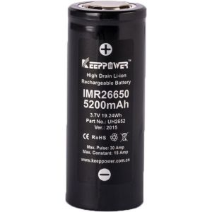 Batería de Litio KeepPower 26650 3,7V 5200mAh Li-ion