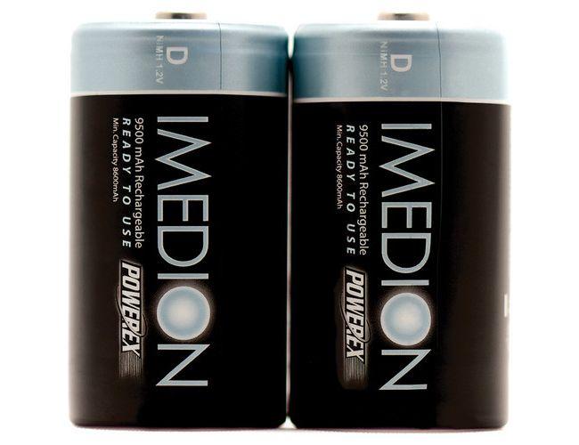 Batteries Powerex MHRDI2 IMEDION - 2 x D NiMH 1,2v 9500mAh