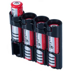 Battery case - 4 x 18650 Black