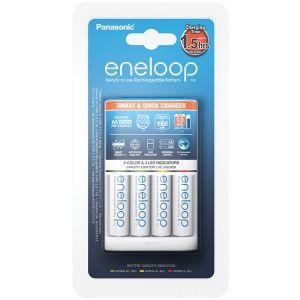 Chargeur batteries Panasonic BQ-CC55E + 4 batteries Eneloop 1900mAh - K-KJ55MCC40E