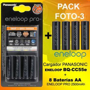 PHOTO-3 - Chargeur batteries Panasonic Eneloop BQ-CC55e + 8 batteries Eneloop PRO 2500mAh