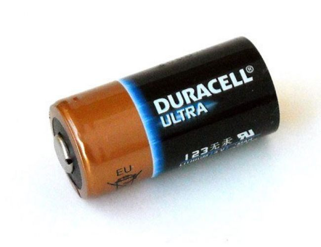 Batteria Duracell Ultra Lithium CR123A / CR17345 Litio (non ricaricabile)