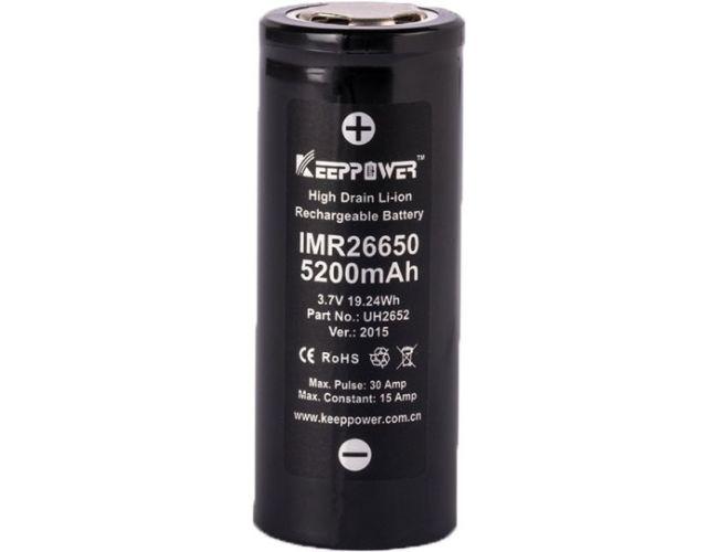 Batería de Litio KeepPower 26650 3,7V 5200mAh Li-ion