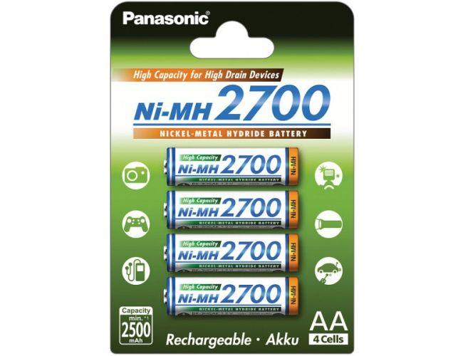 Batteries Panasonic 2700mAh pack 4xAA BK-3HGAE