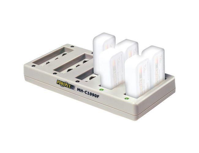 Caricabatterie Powerex MH-C1090F per 10 Batterie 9v NiMH