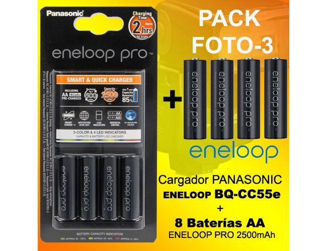 PHOTO-3 - Caricabatterie Panasonic Eneloop BQ-CC55e + 8 batteries Eneloop Pro 2500mAh