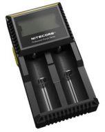 Cargador Nitecore Digicharger D2 para baterias IMR, Li-ion, LiFePO4, Ni-MH, Ni-Cd