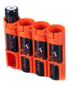 Organizador de 4 Baterías 18650 Powerpax - Naranja