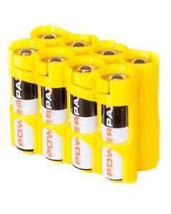 Organizador de 8 Baterías AA Powerpax - Amarillo