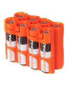 Organizador de 8 Baterías AA Powerpax - Naranja