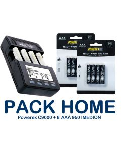 Pack-HOME - Cargador POWEREX MH-C9000 + 8xAAA 950mAh