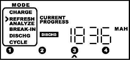 El display del cargador indica el valor de carga almacenado
