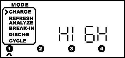 El cargador muestra el mensaje HIGH